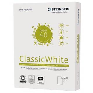 PACK DE 5. PAQUETE 500 HOJAS PAPEL RECICLADO A4 CLASSIC WHITE 80