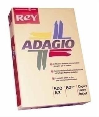 PACK DE 5. PAQUETE 500H PAPEL 80GR A3 SALMON PALIDO ADAGIO 15623