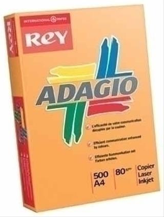 PACK DE 5. PAQUETE 500H PAPEL 80GR A4 NARANJA INTENSO ADAGIO 156