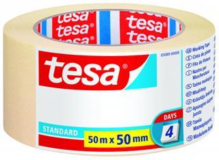 PACK DE 6. TESA Nastro in carta adesivo 50 mm x 50 m Beige Papel