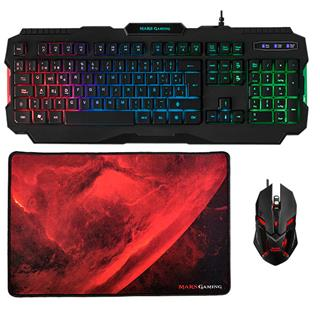 PACK TECLADO  MOUSE Y ALFOMBRILLA MARS GAMING MCP118 MOUSE 4000d