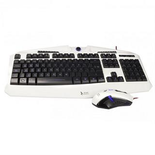 PACK TECLADO Y MOUSE MARS GAMING ZEUS MCPZE1 EDICION COLOR BLANC