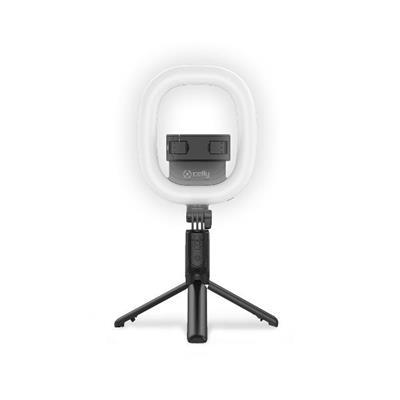 Palo selfie Celly CLICKRINGBTBK anillo de luz 6 ...