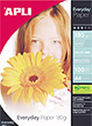 Paquete 100 HOJAS PAPEL 180G A4 INK GL 11475 APLI