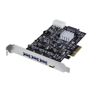 Startech TARJETA PCI-E 3XUSBA 1XUSB C