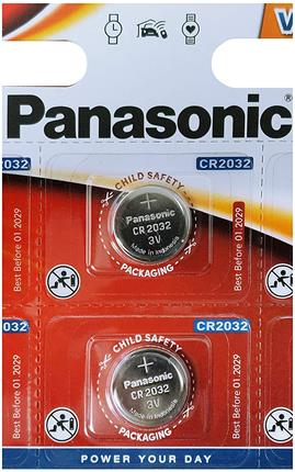 PILA LITIO PANASONIC CR2032 5 UDS
