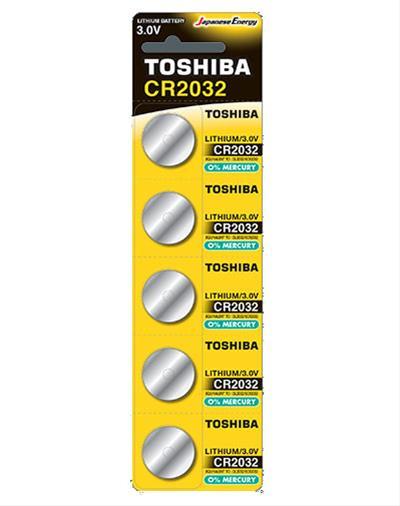 PILA TOSHIBA CR2032 3V LITHIUM BATTERY 5 UNI