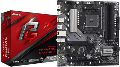 Placa base Asrock B550M Phantom Gaming 4 AM4 MATX ...