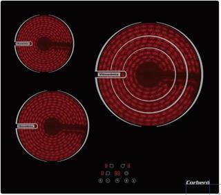 Placa vitrocerámica Corbero Ccvbr6350 5700W 3 ...