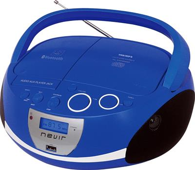 Radio CD Nevir Nvr-480Ub Bluetooth Usb Azul