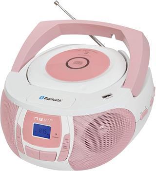 Radio CD Nevir Nvr-481Ub rosa/blanca