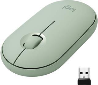 Ratón inalámbrico Logitech Pebble M350 verde