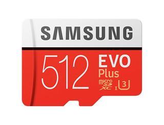 Samsung Micro SD512GB EVO+w SD Adapter class 10
