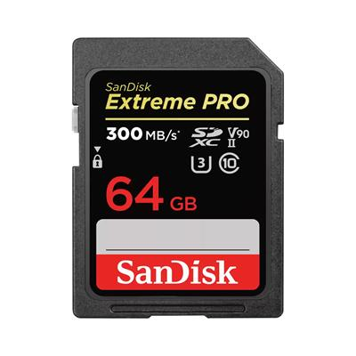 SanDisk ExtremePRO SDXC V90 64GB 300MB UHS-II  ...