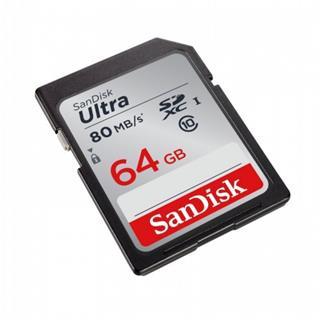 Sandisk Ultra SDXC 64GB 80MB/s Class 10 UHS-I