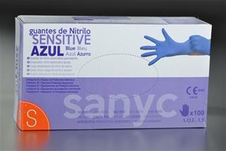 Sanicel PAQUETE DE 100 GUANTES NITRILO SENSITIVE ...