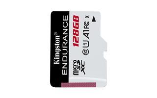 KINGSTON 128GBMICROSDXCENDURANCE 95R/45W C10 A1 UHS-I CARD ON