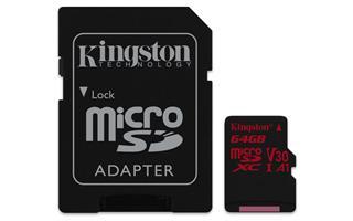 MicroSD KINGSTON 64GB MICROSDXC CANVAS REACT    100/80 U3 UHS-I