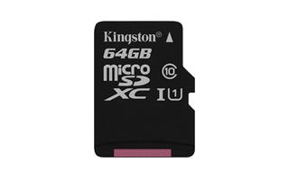 Kingston 64GB microSDXC Canvas Select 80R CL10