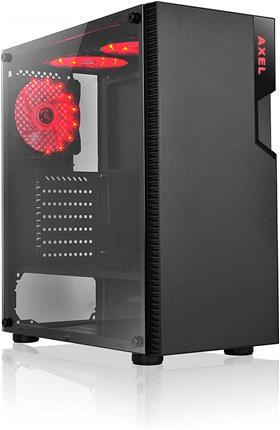 Semitorre L-Link Axel LED rojo USB3.0 cristal templado