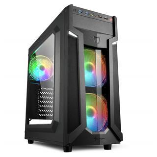 Semitorre Sharkoon VG6-W RGB con ventana USB3.0