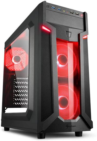Semitorre Sharkoon VG6-W USB3.0 con ventana roja