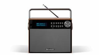 Sharp DR-P350 radio Portátil Digital Negro. Madera