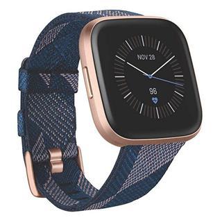 Smartwatch Fitbit Versa 2 Edición Especial Textil azul marino/ro