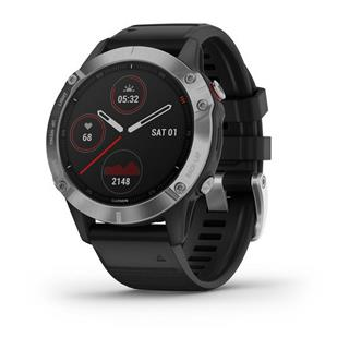 SMARTWATCH GARMIN FENIX 6 47mm PLATA/NEGRO
