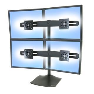 Soporte de mesa Ergotron 33-324-200 4 pantallas ...