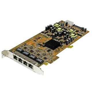 STARTECH 4PORT GBE PCI EXPRESS NETWORK   CARD W/ ...