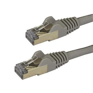 Cable de red Startech  3M  ETHERNET RJ45 STP CAT6A SNAGLESS Gris