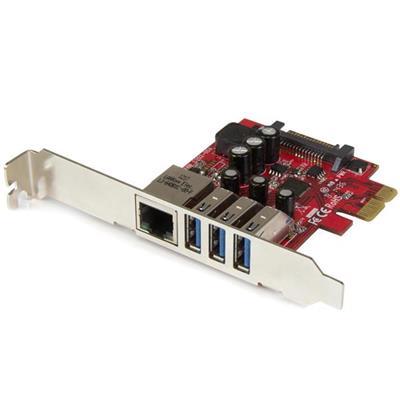 Startech PCI-E HUB USB 3.0 COMBO DE RED
