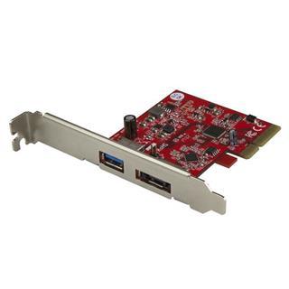 Startech TARJETA PCI-E USB 3.1 10GB ESATA