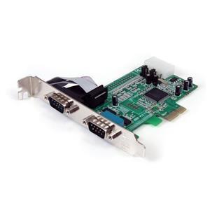 STARTECH.COM TARJETA PCI EXPRESS 2 PUERTOS   SERIE RS232 DB9 165