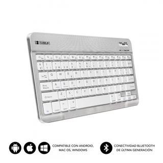 SUBBLIM Teclado Bluetooth Smart BT Keyboard Silver