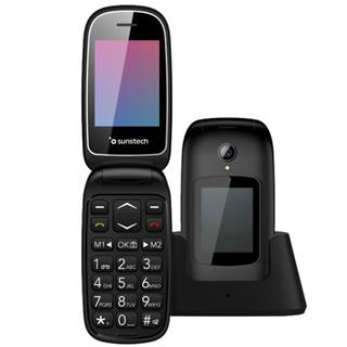 Sunstech Simple Black portable phone with SOS