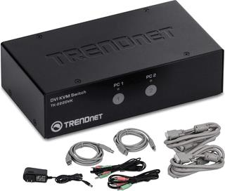 Switch KVM Trendnet TK-222DVK DVI USB