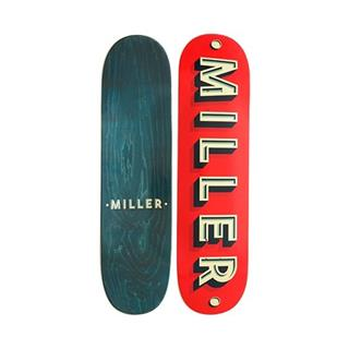Tabla skate MILLER CORPORATE 8.25  X 32  Rojo