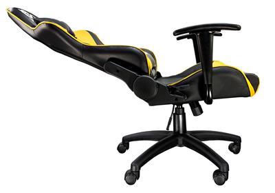 Talius silla Gecko V2 gaming negra/amarilla. ...