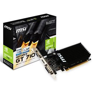 VGA MSI GT 710 2GB DDR3 LP PASIVA VGA HDMI DVI-D
