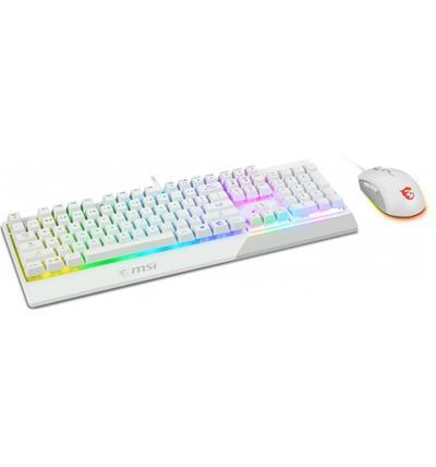 Pack Teclado y ratón MSI Vigor GK30 Combo blanco ...