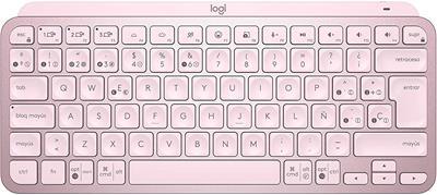 Teclado Logitech MX Keys Mini Inalámbrico Bluetooth Rosa