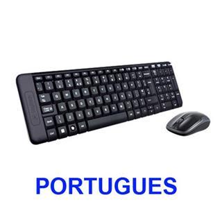Teclado logitech wireless mk220 portugues p/n:920-003158