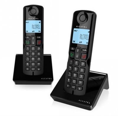 TELEFONO INALAMBRICO ALCATEL S250 DUO NEGRO M. ...