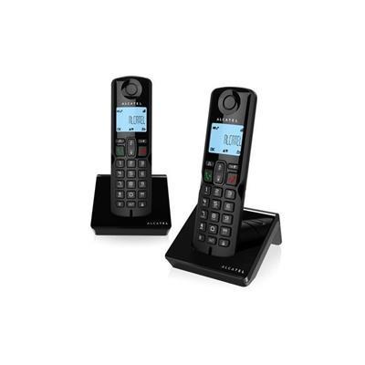 TELEFONO INALAMBRICO ALCATEL S250 DUO NEGRO· ...