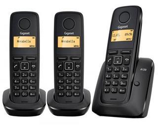 Teléfono Gigaset A120 Trío Inalámbrico Negro