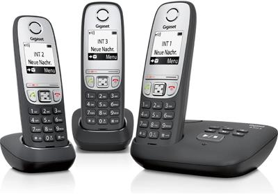 Teléfono Gigaset A415 A Trio inalámbricos negro