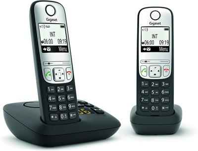Teléfono Gigaset A690 A Duo black
