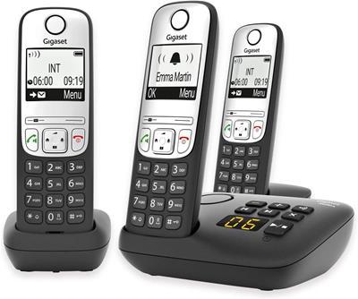Teléfono Gigaset A690 A Trio black